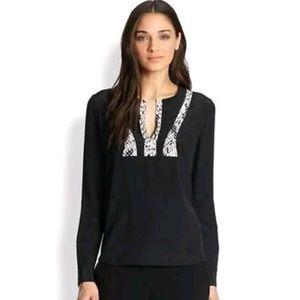 Diane von furstenberg windona silk blouse Sz 6